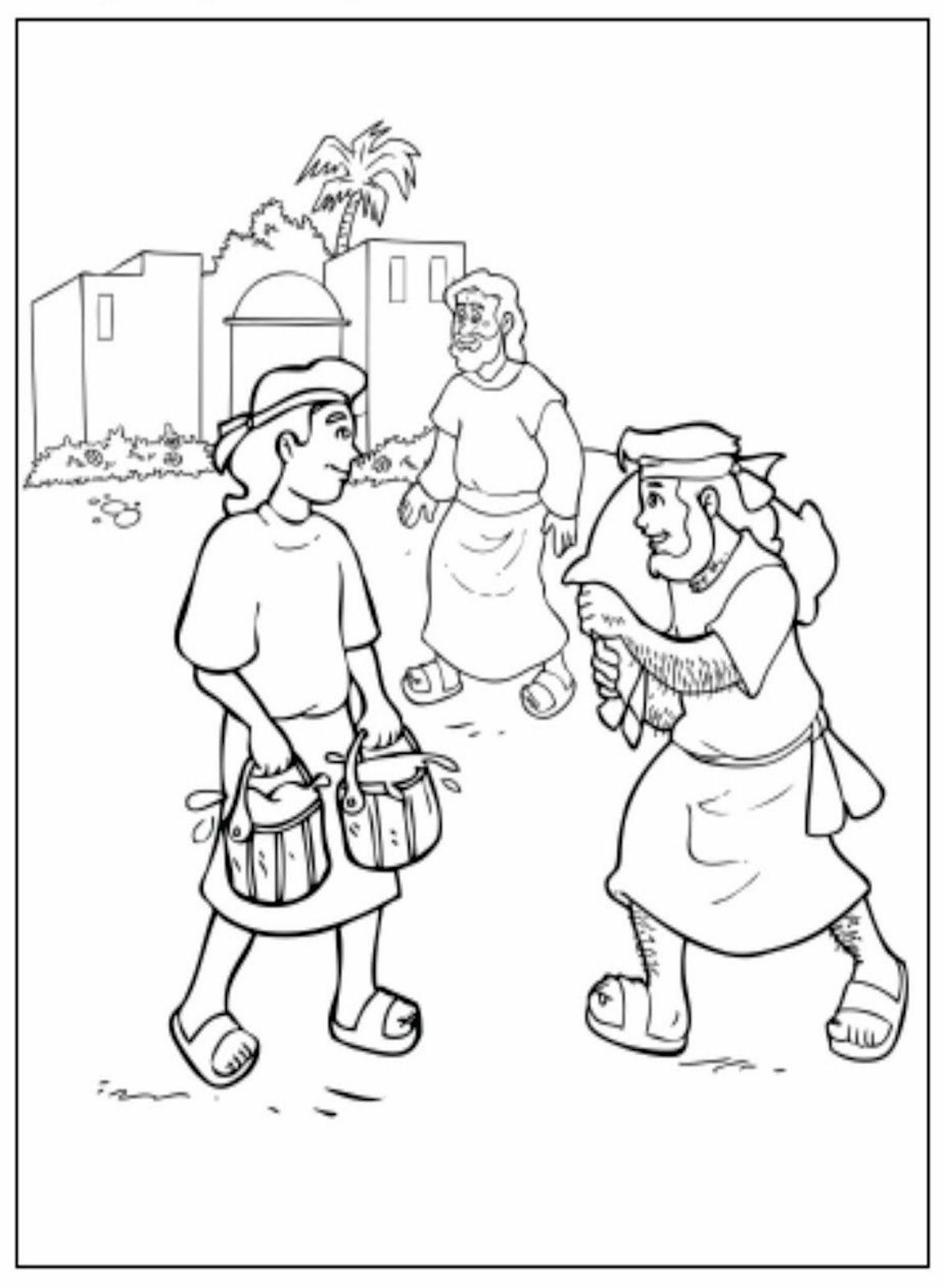 Esau Y Jacob Para Colorear Paginas Para Colorear De Biblia
