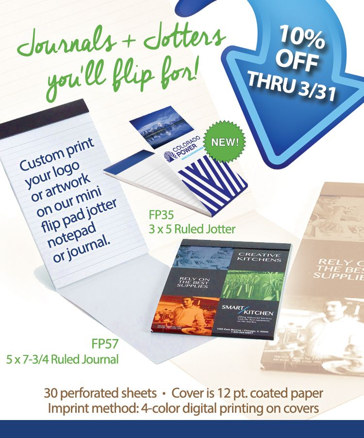 journals from warwick promotional product flyers pinterest