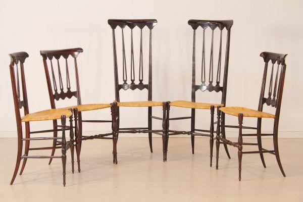 Sedie poltrone divani: Cinque sedie Chiavarine