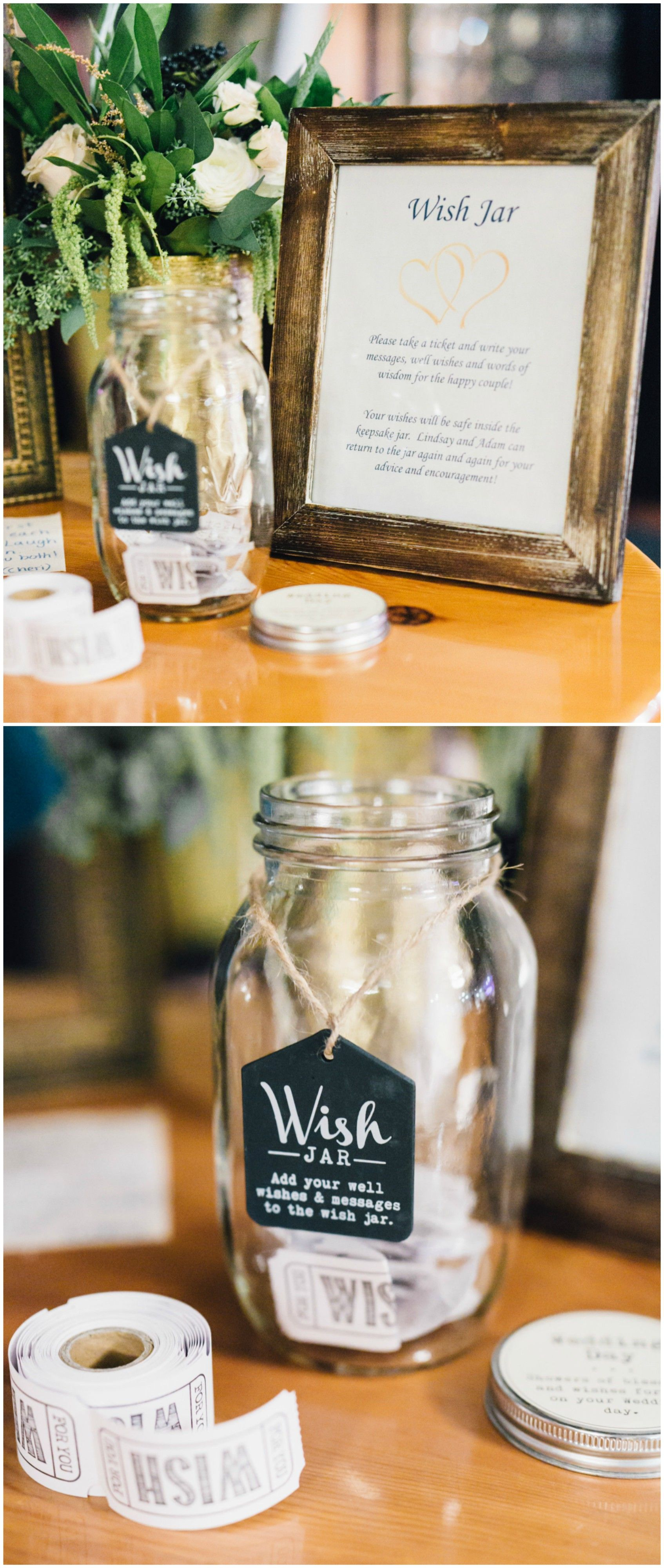 Wish Jar Add Your Well Wishes And Messages To The Jar Wish Tickets Wedding Reception Ideas Alicia Lewin Wedding Memorial Wedding Reception Wedding Wishes