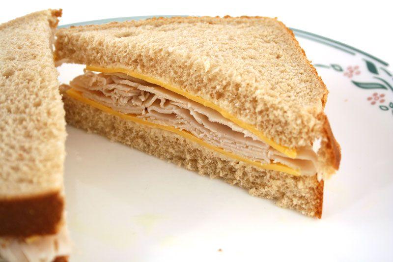 turkey and cheese sandwich | delish | Pinterest