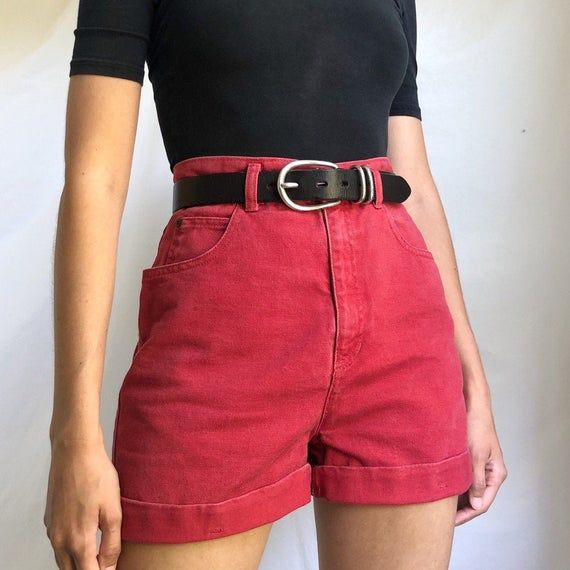 Lilac All Cotton Shorts Gorgeous Fab Long SHorts. By Rockies Mom Pants Vintage Size 11 High Waisted Shorts Mom Jeans