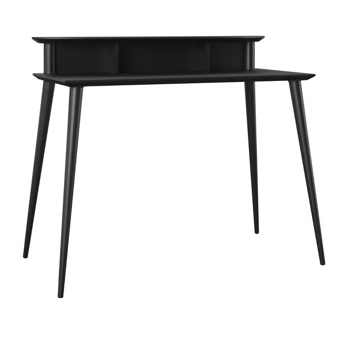 Tolland Desk With Riser Black Room Joy In 2020 Black Rooms
