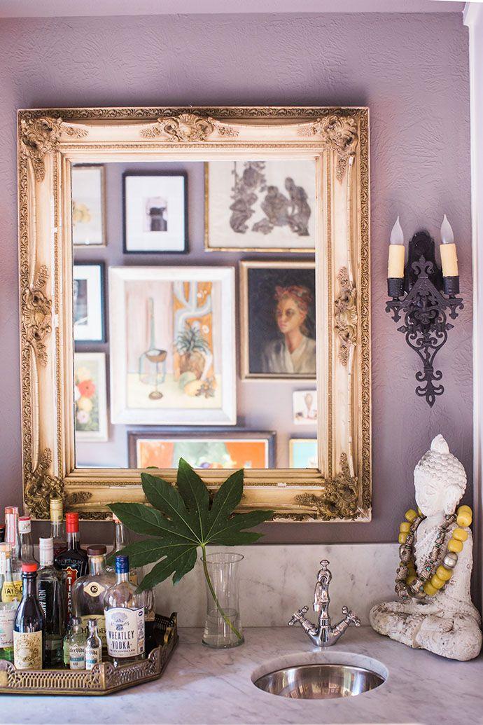 brittany cobb\u0027s bohemian \u0027texas chic\u0027 home interior inspirationmarble wet bar counter and back splash