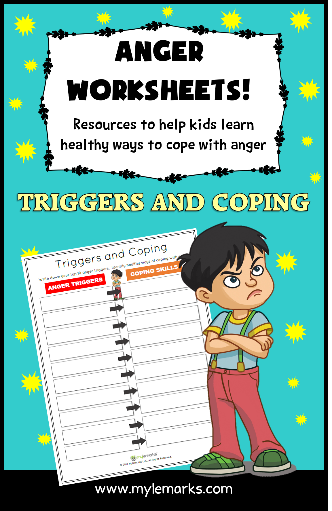 Triggers And Coping Worksheet Helps Kids Explore Anger