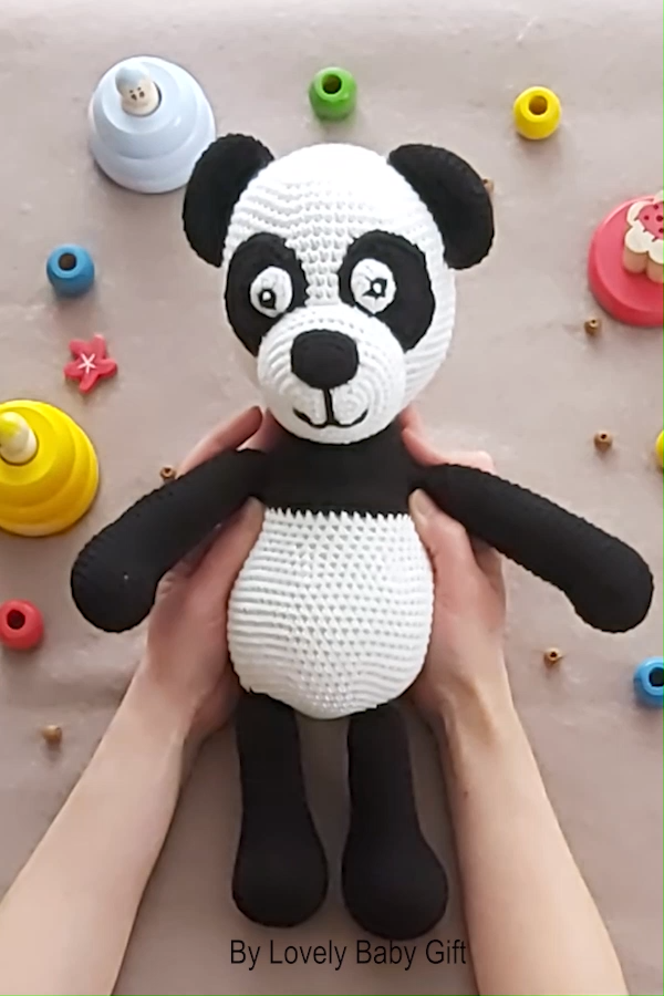 Use this Panda Amigurumi Crochet Pattern to create your own adorable animal toy….