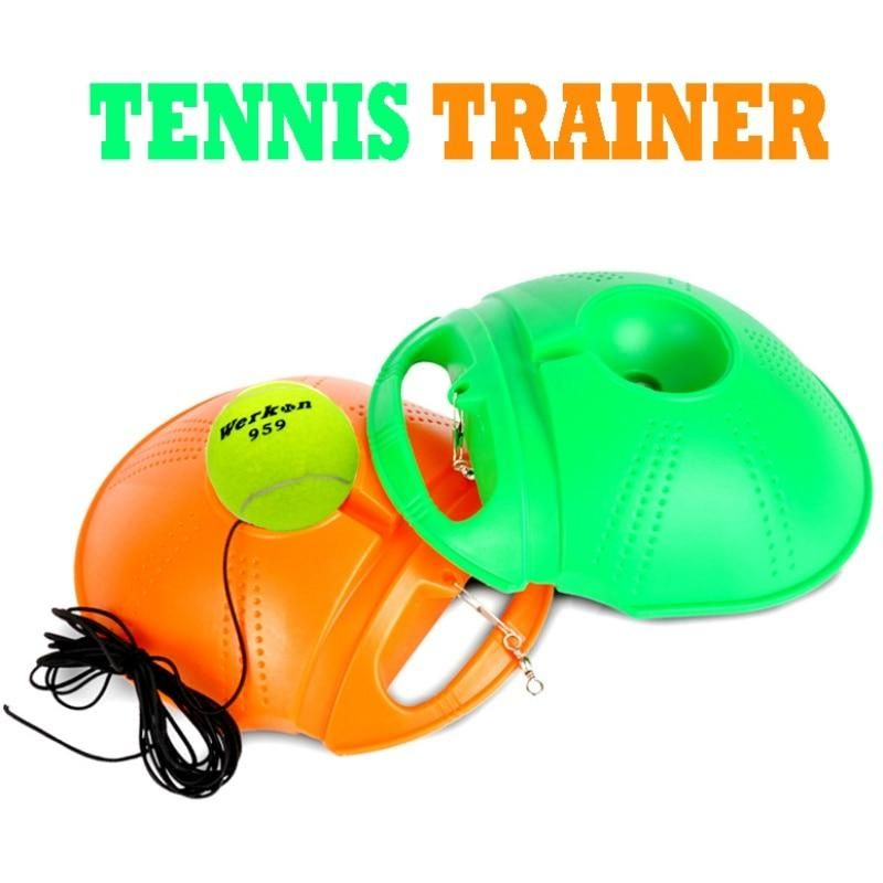 Single Tennis Trainer Tennis Training Tool Exercise Tennis Practice Trainer Baseboard Sparring Device Beginner Update Tennis Tennis Techniques Tennis Equipment