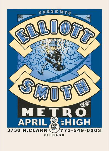 Elliott Smith Metro Chicago Poster Amazing Junior Jr High