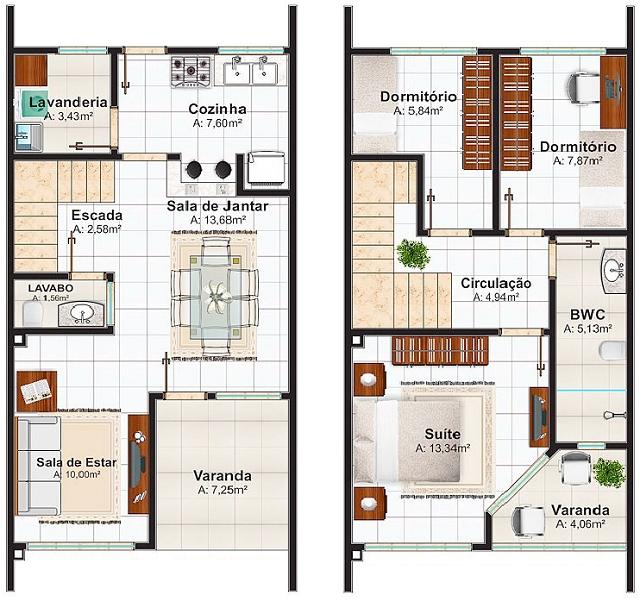 Plano de casa de 106 m2 proyectos que intentar en 2019 for Disenos de casas pequenas de una planta