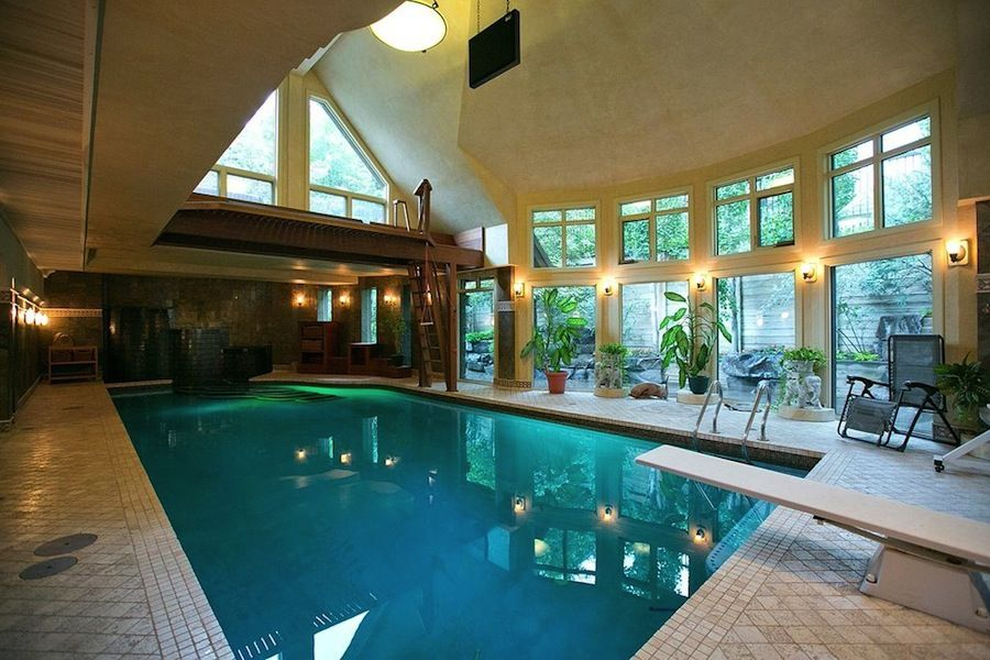 Mansion With Indoor Pool Diving Board Dream House Calgary Chalet 1125 Sydenham