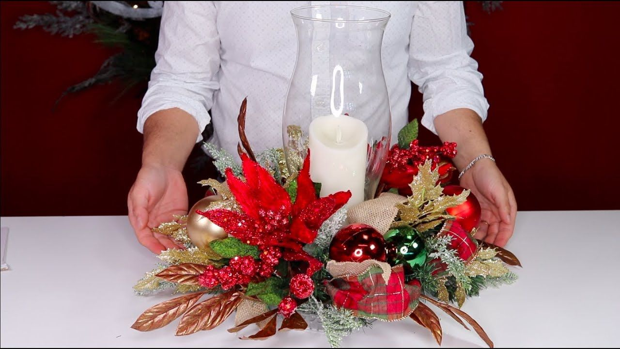 How To Make A Christmas Centerpiece On A Budget Olivia S Romantic Home Christmas Centerpieces Diy Christmas Centerpieces Christmas Table Decorations Diy