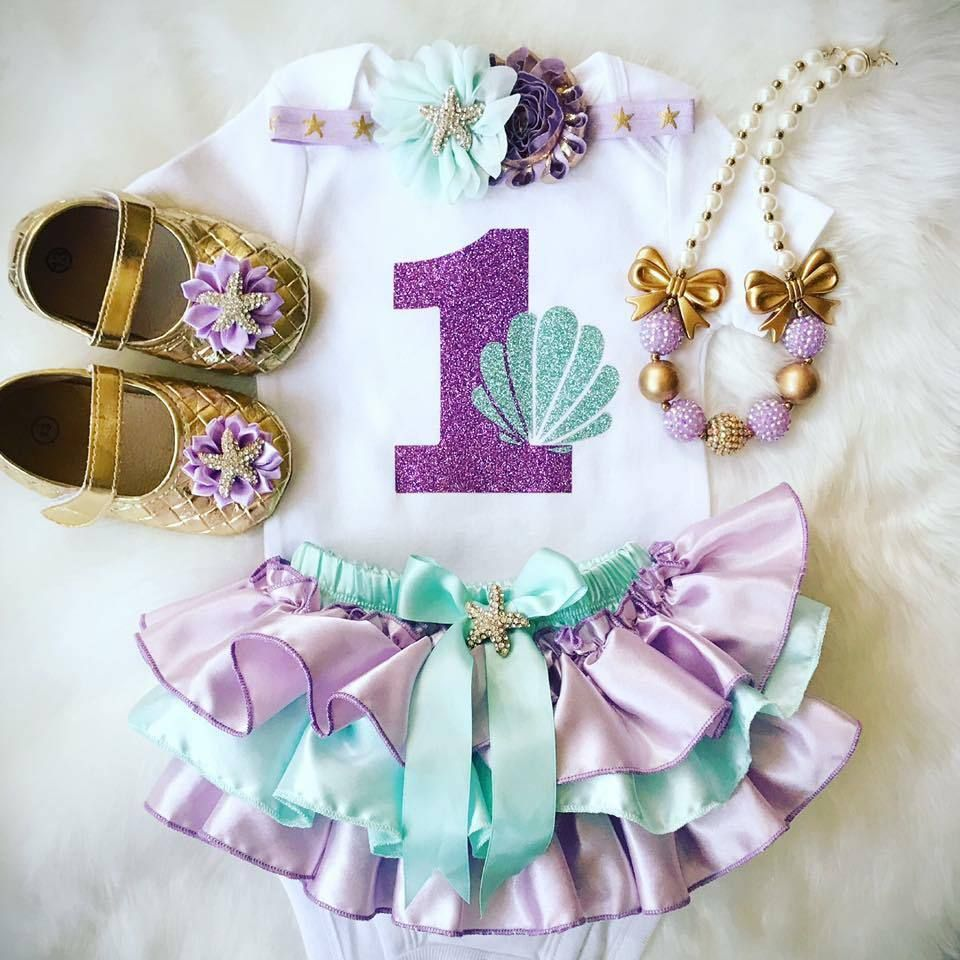 Little Mermaid 1st Birthday Outfit Cheap Online
