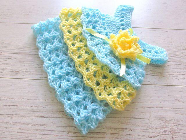 Ruffle Dress Pattern By Andree Tnde Ruffle Dress Crochet Baby