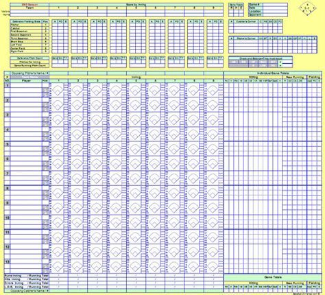 Baseball Score Sheets Actual Screenshot from Baseball Digital - baseball stats spreadsheet