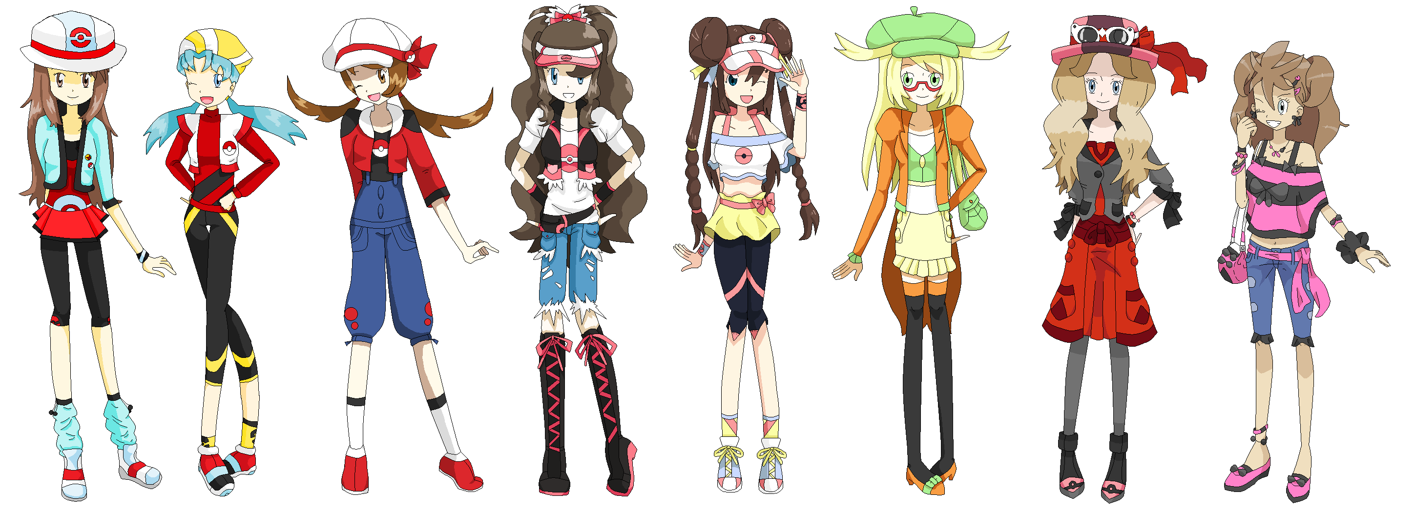 pokemon trainer outfit ideas - Google Search  Female protagonist