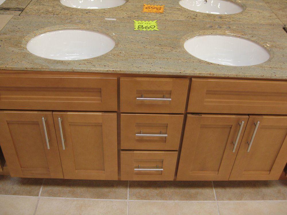 60 X21 Bathroom Vanity 869 Clear Maple