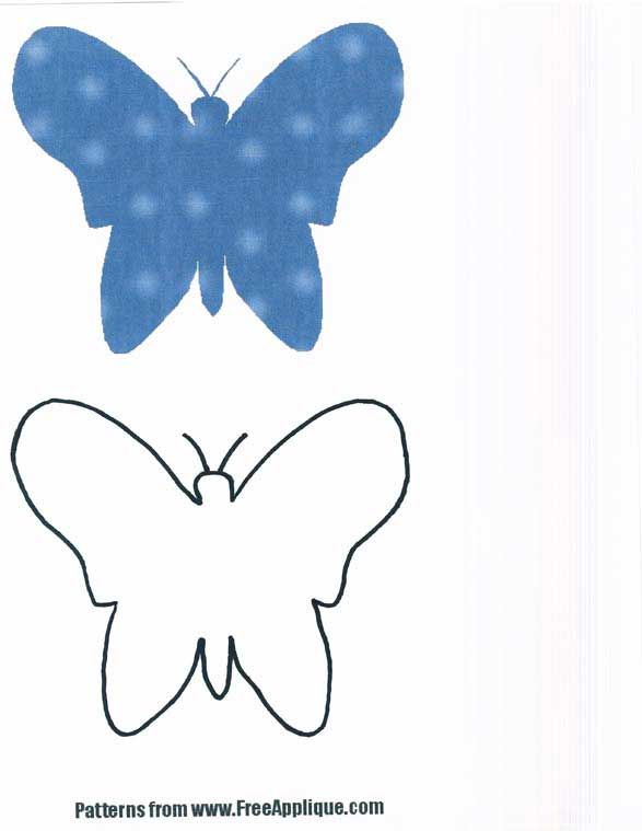 Butterfly Pattern Free Basic Shapes  Appliques And Templates And