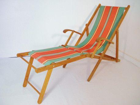 Chaise longue transat vintage 1960 transat chaises longues et chaises