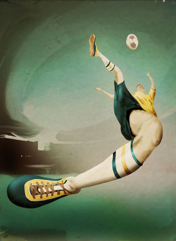 Cool Football Themed Illustrations   Top Design Magazine - Web Design and Digital Content