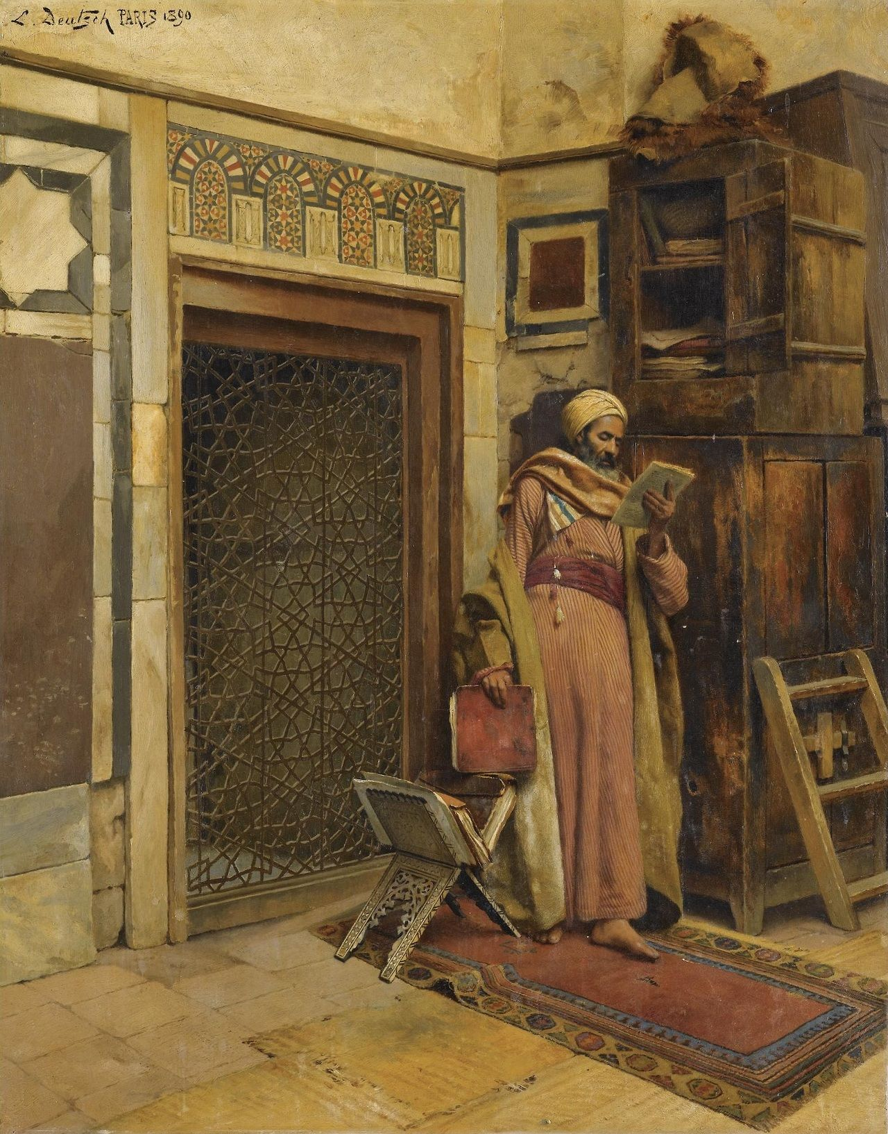 The scholar 1890 ludwig deutsch orientalism for Buy mural paintings