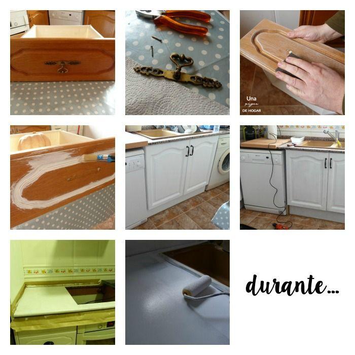 Reforma la cocina sin obras | Pintura de pizarra, Pintando muebles y ...