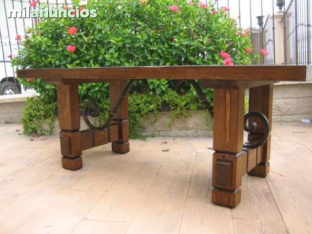 Mesas de madera rustica para comedor buscar con google for Mesas rusticas comedor