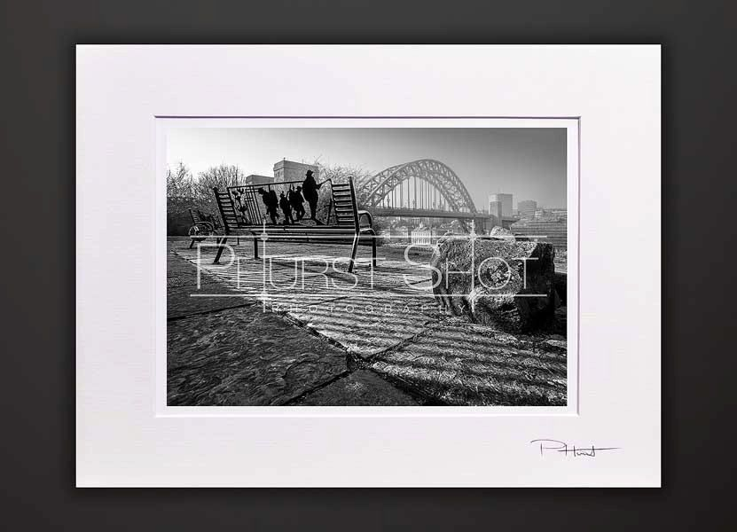 Tyne bridge mounted print black white photographynewcastle quaysideworld war 1