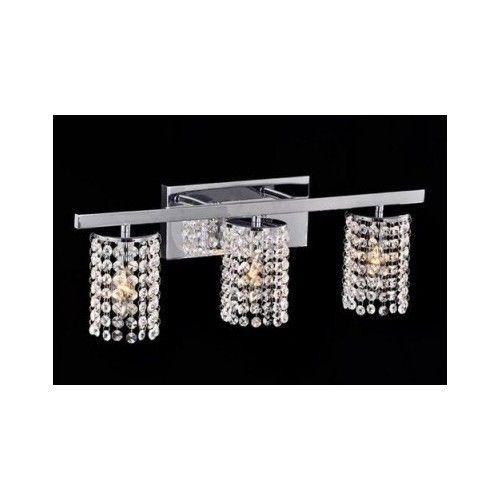 Crystal Light Fixture Bathroom Sconce Wall Mount Hanging Vanity Chrome Lighting Modern