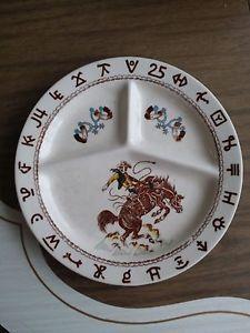 Divided Dinner Plate Wallace China Till Goodan Westward Ho Rodeo (B5) & Divided Dinner Plate Wallace China Till Goodan Westward Ho Rodeo (B5 ...
