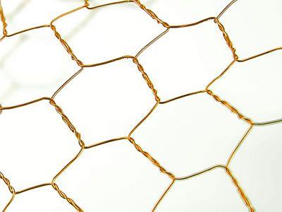 Golden Reverse Twist Bronze Hexagonal Mesh With Big Holes Wire Mesh Brass Copper Mesh