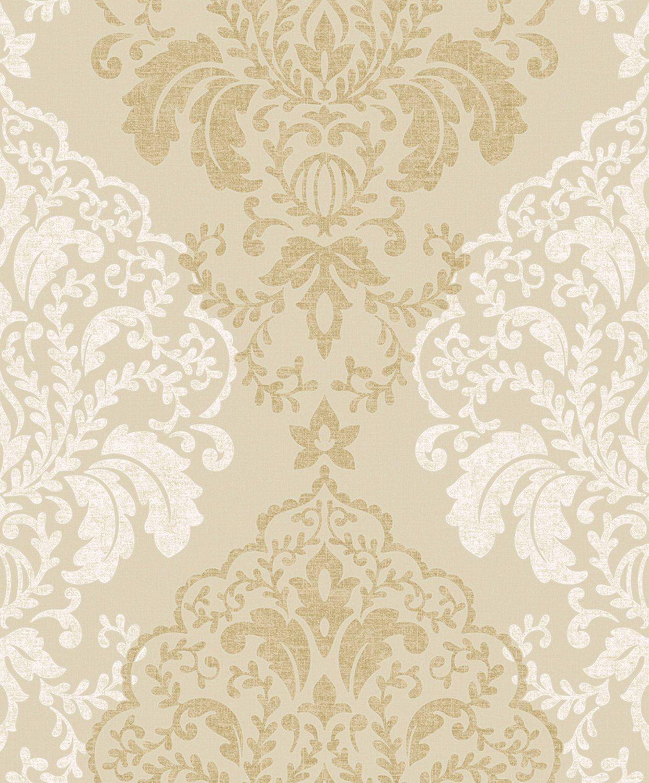 Glitter Damask Quality wallpaper,Vinyl finish (Gold