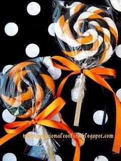 Halloween Lollipop Cookies