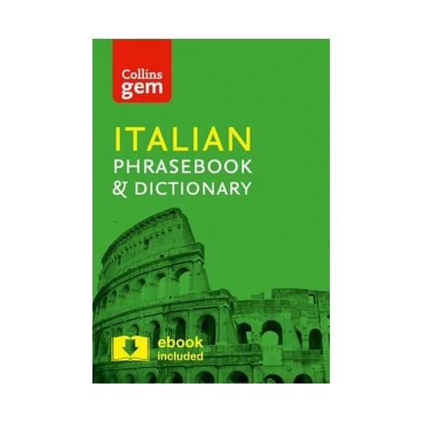 Collins Gem Italian Phrasebook And Dictionary : 4th Edition ISBN: 9780008135911 PUBLICATION DATE: 26 April 2016  In all of the most common travel situations, you need the reassurance that you can communicate with ease. A reliable, portable and easy-to-use phrasebook is a travel essential, and with _Collins Gem Italian Phrasebook and Dictionary_, the right word will always be at your fingertips.This indispensable language guide covers the topics and phrases that crop up every day on holiday, from