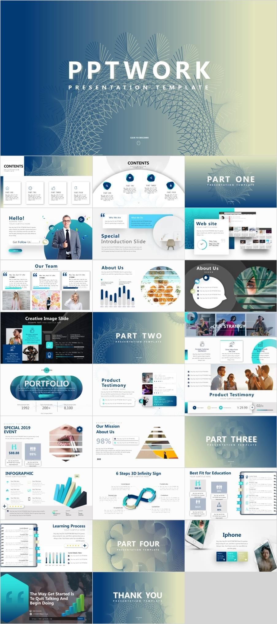Clean Business Presentations Template Business