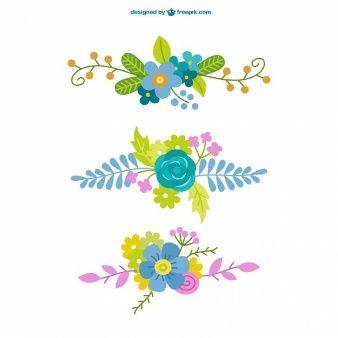éléments floraux ornementales