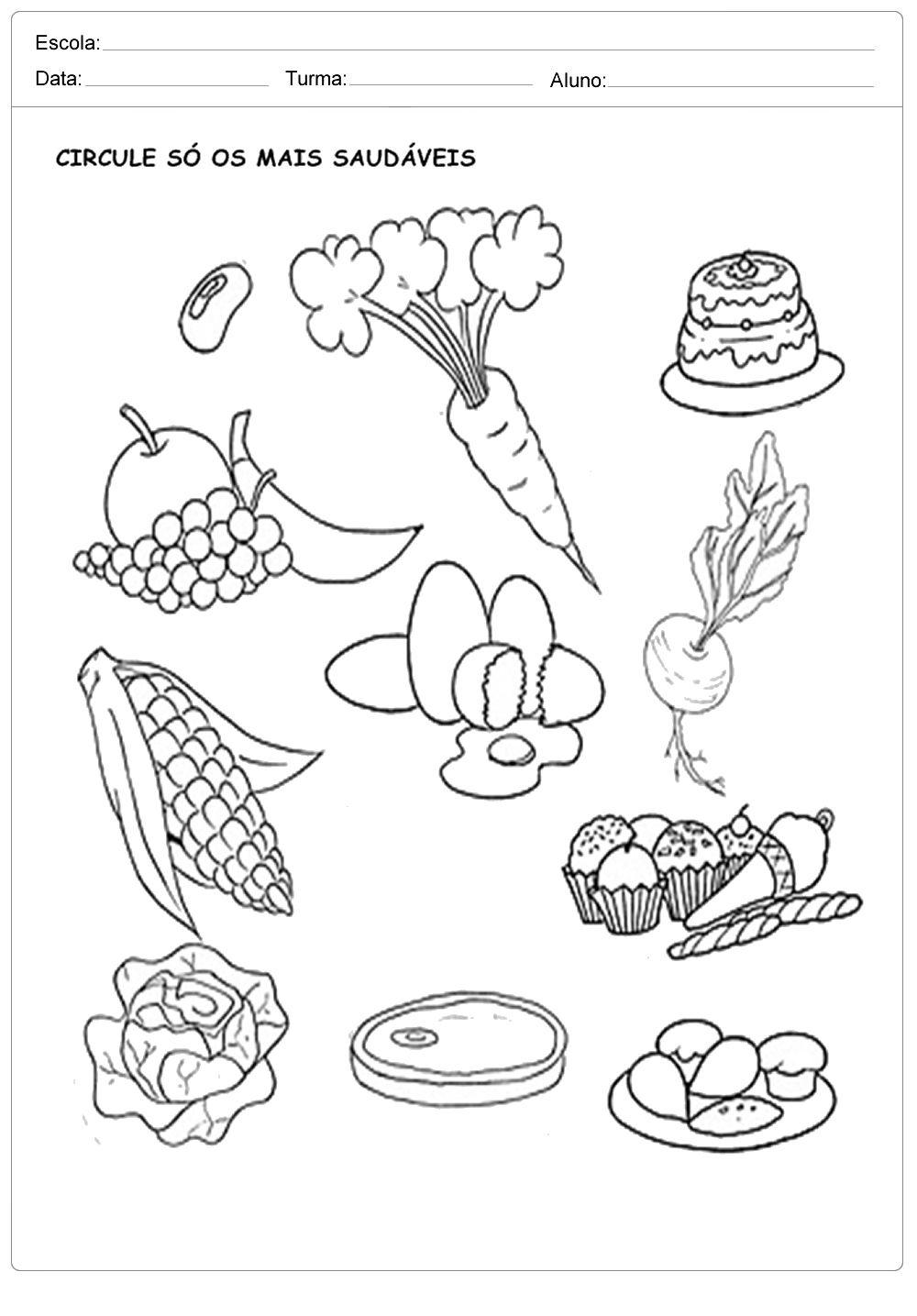Circule Os Alimentos Saudaveis Projeto Alimentacao Saudavel Dia