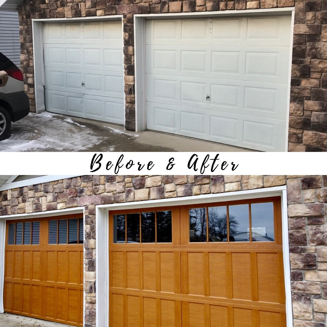 Garage Door Transformation Before After Garage Door Styles Garage Door Types Garage Doors