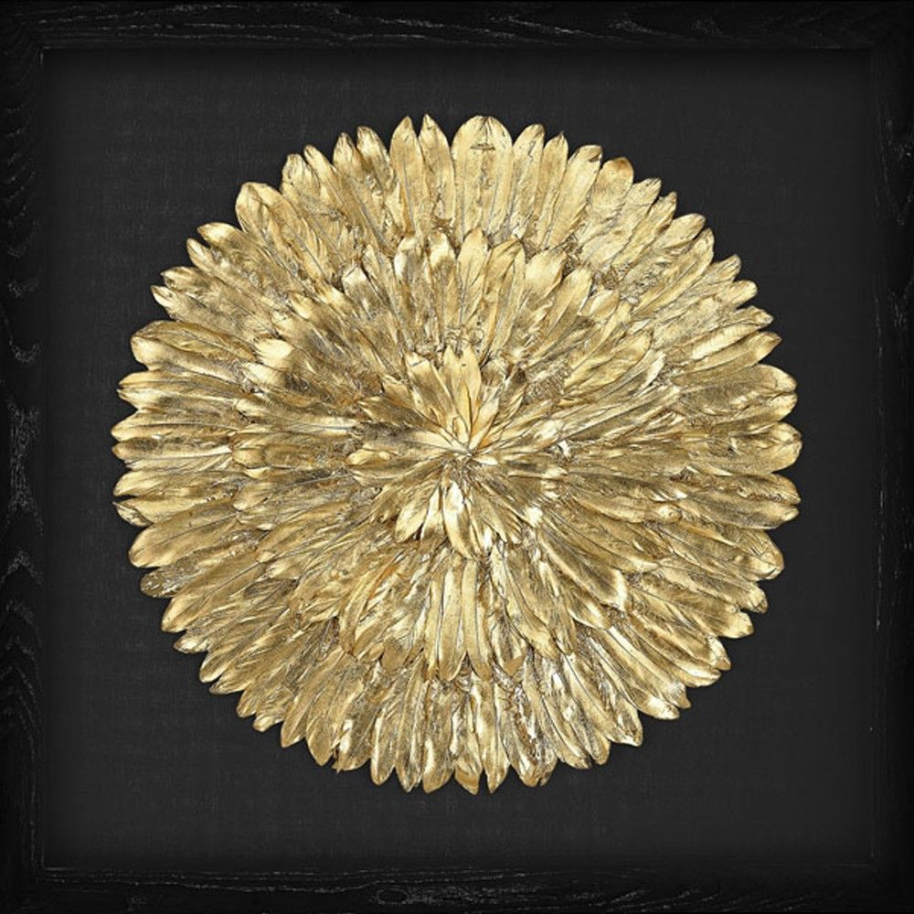 Lazy Susan Gold Feather Spiral Wall Art | Small touches - Home Decor ...