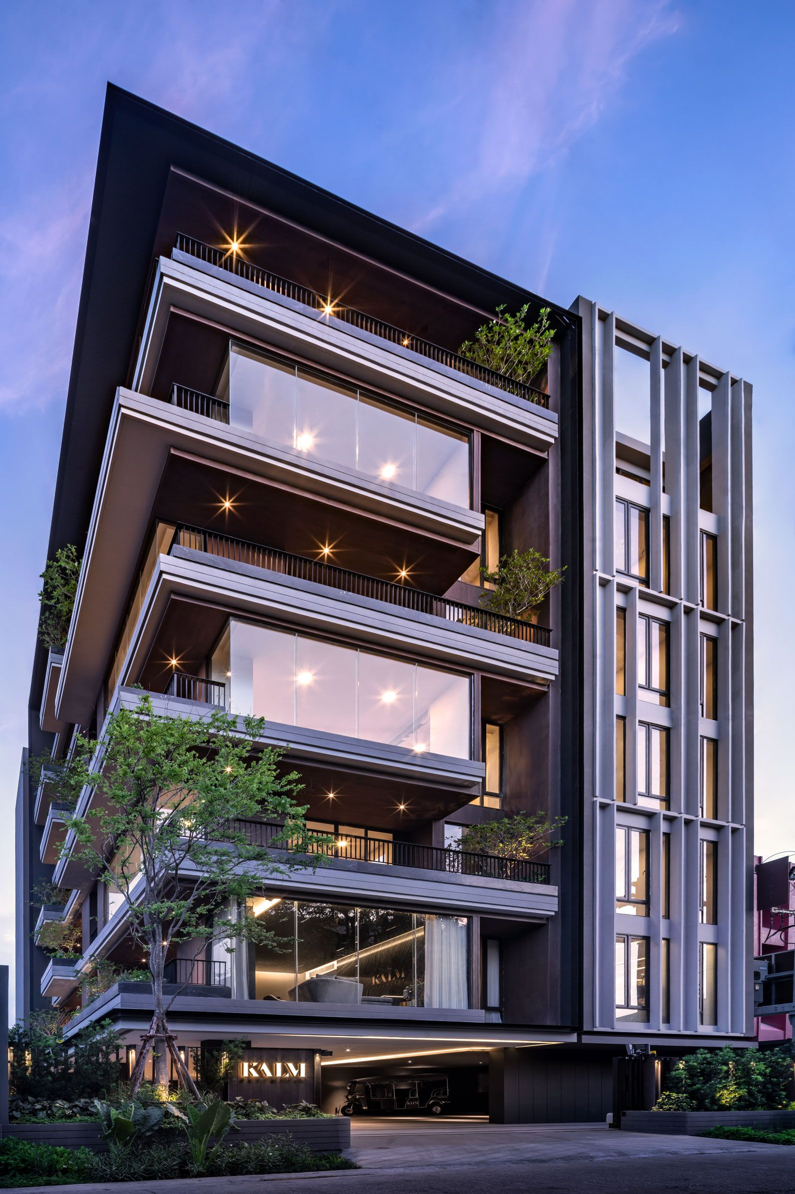 Kalm Penthouse Facade Architecture Design Residential Building