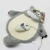 Wish | My Neighbor Totoro Mouse Pad Mat Smile Ghibli Soft Plush Furry Fluffy Toy Doll