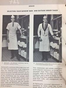 rare mcdonald s operations and training manual thick binder 1968 rh pinterest com online canadian operations and training manual mcdonalds McDonald's International Operations