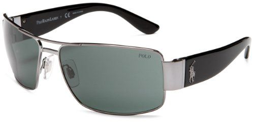 Polo Ralph Lauren Men's 0Ph3041 Rectangular Sunglasses,Gunmetal Black Frame/G… Now for 122.00.  Classic and authentic, Polo is the foundation of the world of Ralph Lauren menswear, combining the time-honored aesthetic of East Coast Ivy League casual style with proper English refinement. Often imitated but never matched, Polo is a true symbol of the preppy lifestyle. The iconic polo player logo is recognized worldwide as a symbol of heritage and authenticity.     Monel with ZYL frame....