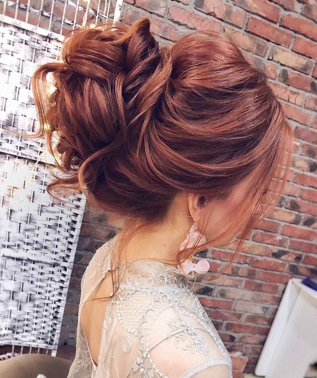 Gorgeous Feminine Messy Updo Wedding Hairstyles