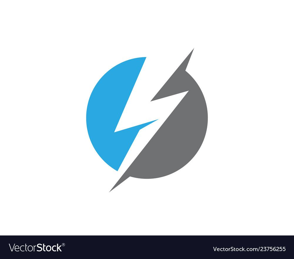 Lightning Logo Template Icon Royalty Free Vector Image Affiliate Template Icon Lightning Logo Ad Lightning Logo Event Poster Design Abstract Logo
