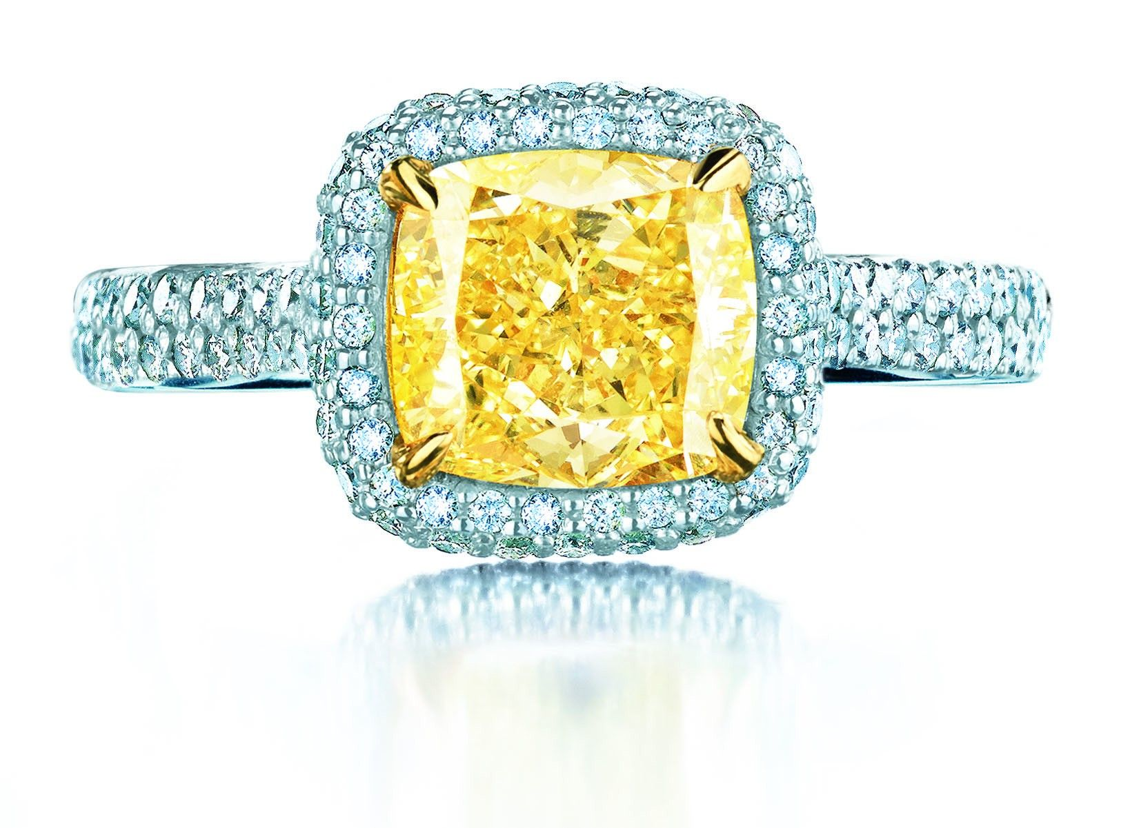 large rings fy yellow diamond fancy jewelers ring wedding stone canary raymond three lee