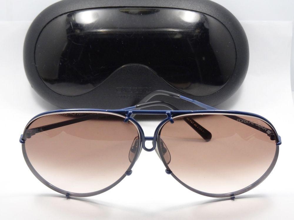 cc020b9a3ffb RARE VINTAGE CARRERA PORSCHE DESIGN 5623 BLUE FRAME SUNGLASSES + CASE # Carrera