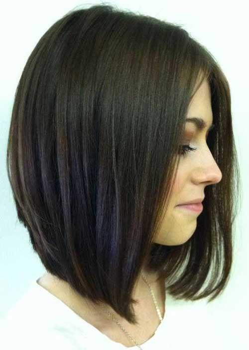 Long Bob Haircut For Round Faces 2016 Thin Hair Haircuts Thick Hair Styles Modern Bob Hairstyles