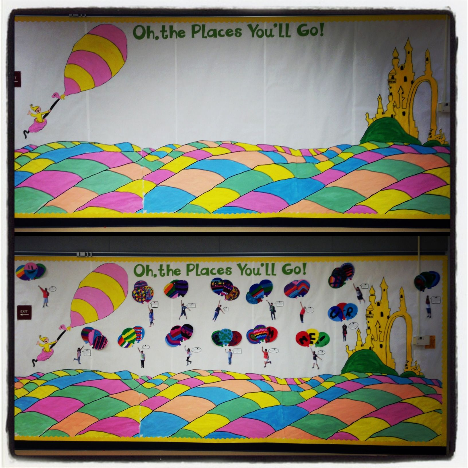 Classroom Ideas To Go ~ Oh the places you ll go bulletin board august