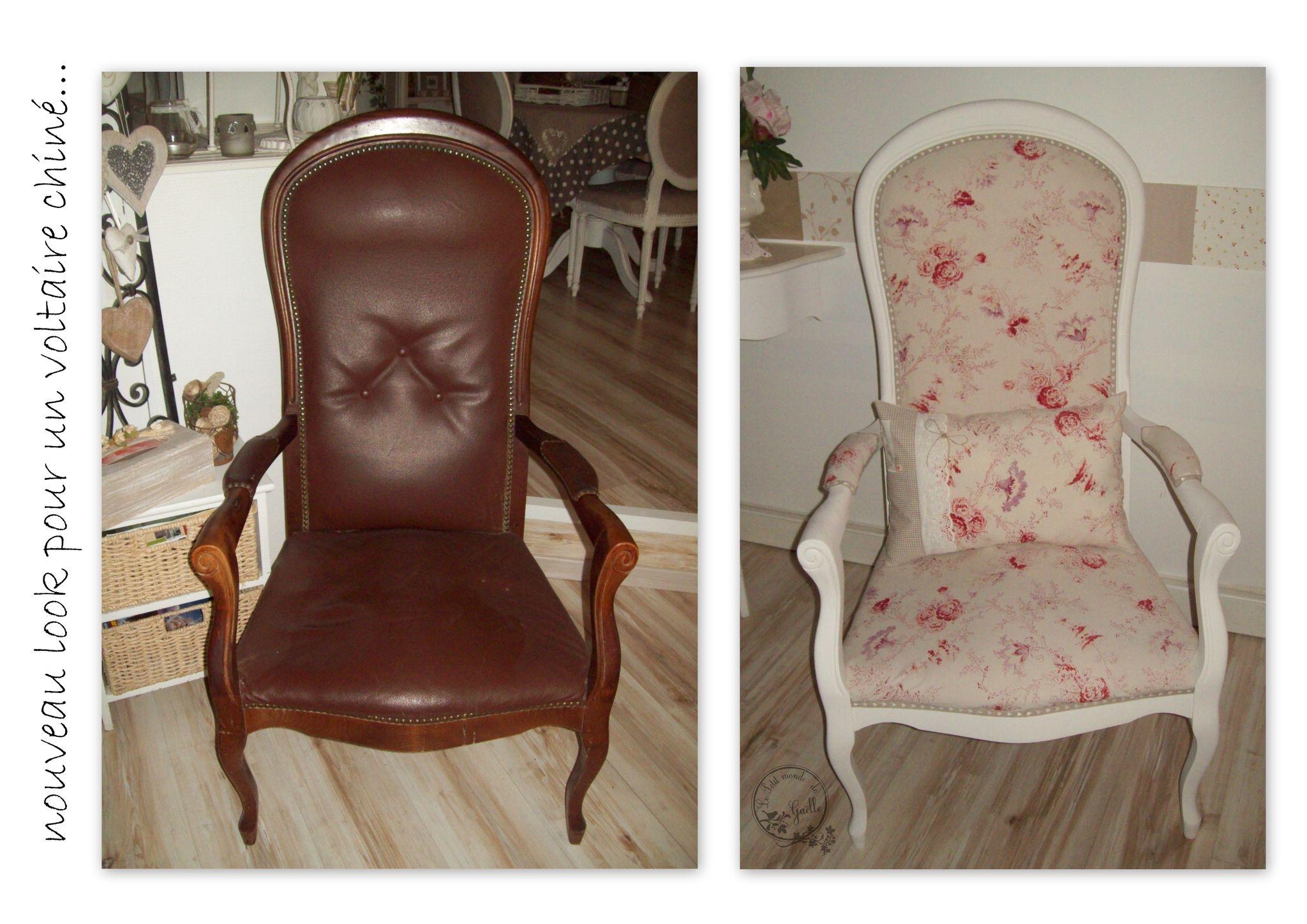 Voltaire shabby avant apr s meuble peinture pinterest mobilier de salon fauteuil - Meuble voltaire ...