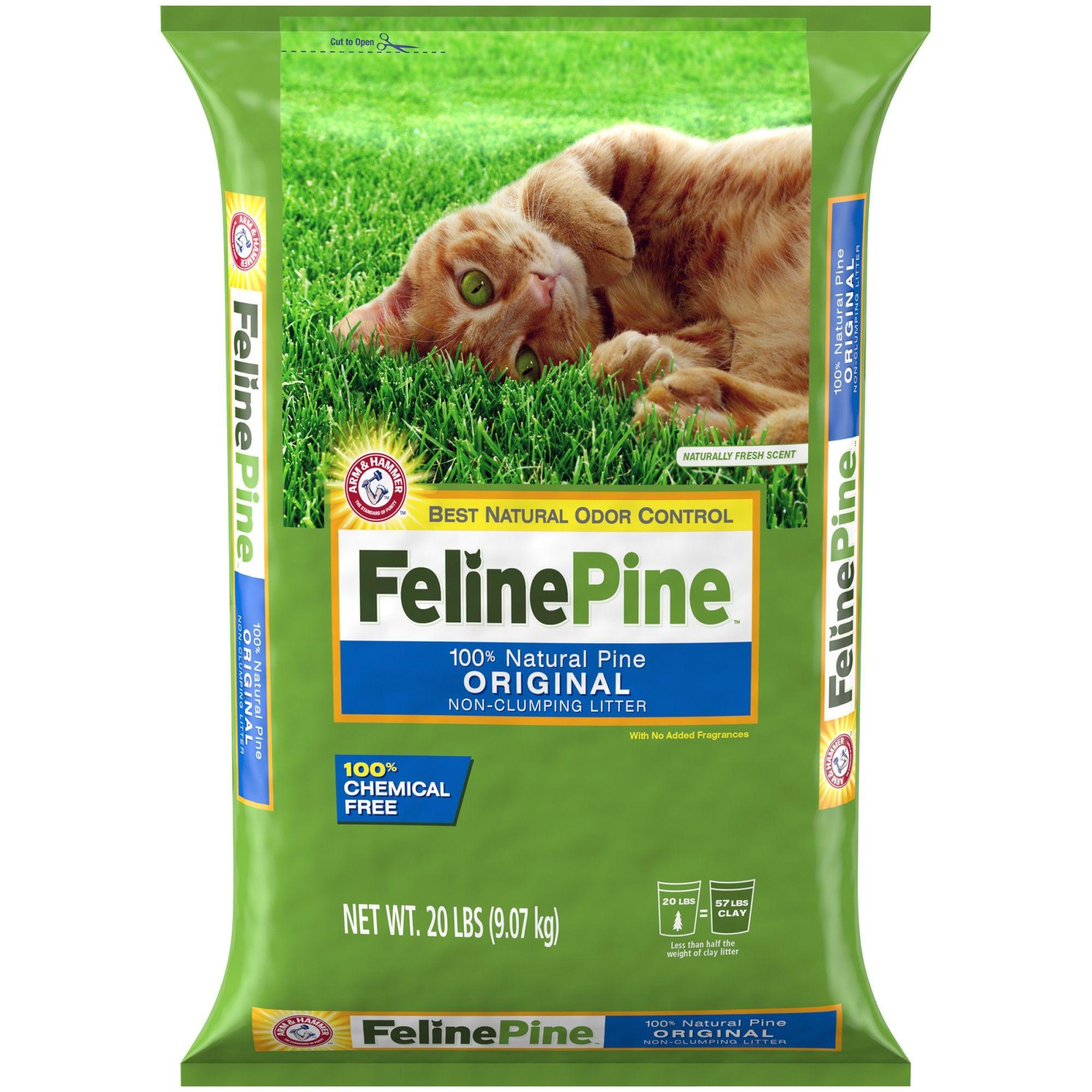 Feline Pine odor control Natural Cat Litter 20lbs Pine